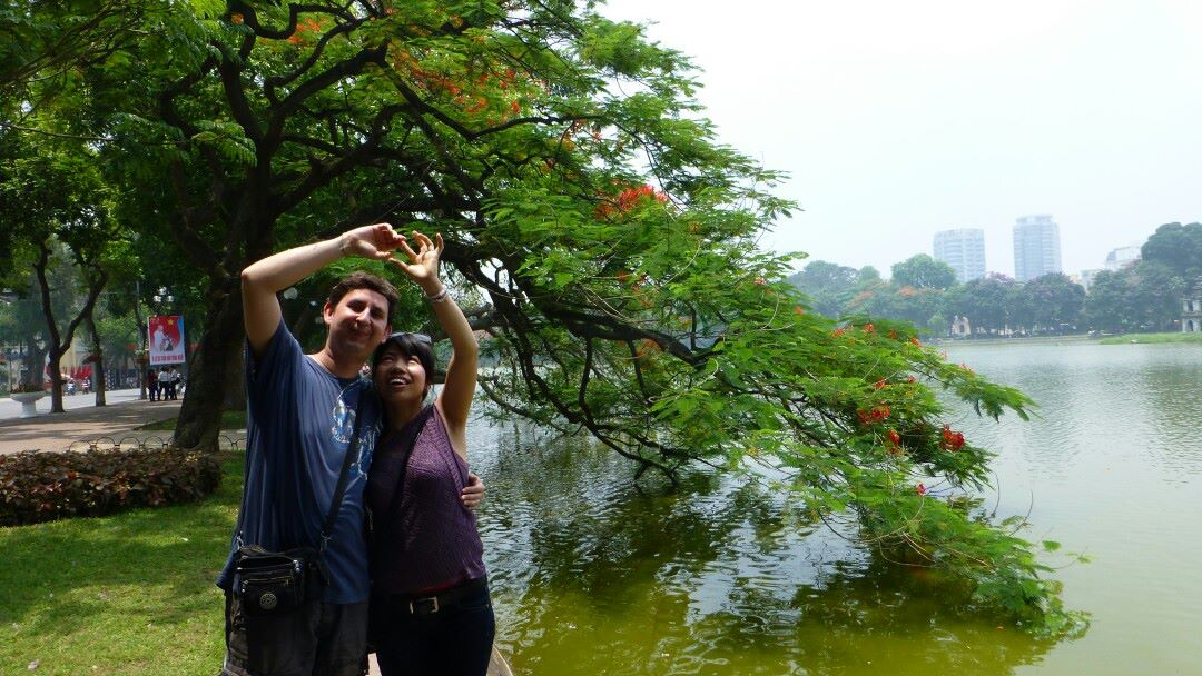 My wife and me in Hanoi